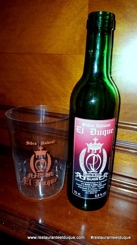 Botella sidra 37cl Llagar El Duque, Gijón, Asturias